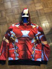 Marvel Avengers Iron Man Captain America Reversible Costume Hoodie Size XL
