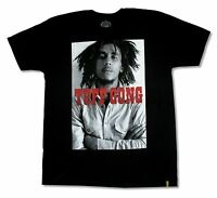 Bob Marley Tuff Gong Picture Black T Shirt New Official Adult Reggae Music