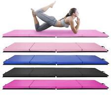 "4 Foldable 8'x2'x2"" Gymnastics Mat Yoga Fitness Tumbling Stretching Aerobics"