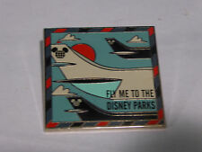 Disney Trading Pins 116622 Fly Me to the Disney Parks Framed Mickey Head Globe I