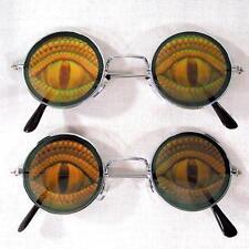 LIZARD EYE POKER  HOLOGRAM 3D GLASSES mens womens glasses HIDE EYES reptile new