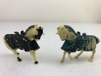 1950's 60's Marx Knights Medieval Plastic Toy Horses