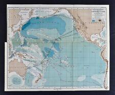 Antique AustraliaOceania Maps Atlases EBay - Pacific ocean depth map