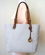 Michael Michael Kors Jet Set East West Vanilla PVC Signature Tote