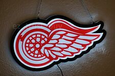 """New Detroit Red Wings Man Cave Led Neon Sign 14"""" Light Lamp Wall Decor Display"""