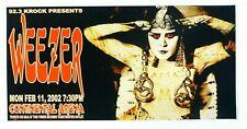 Weezer Concert Poster 2002 Continental Arena Nj Jdp 12