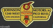 INDIAN & ARIEL MOTORCYCLE STICKER / DECAL MOTORCYCLE WORKSHOP BSA VINCENT NORTON