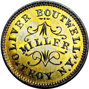 1863 Troy New York Civil War Token Oliver Boutwell Miller