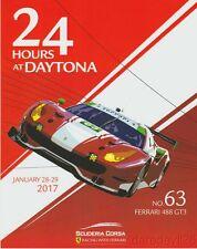 2017 Scuderia Corsa Ferrari 488 GT3 GTD Rolex 24 IMSA WTSC postcard