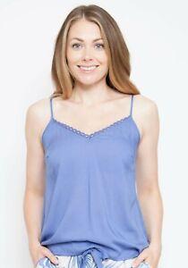 Ladies Lavender Blue Modal Cami Srappy Vest Pyjama Top ~ SIZE 12 18 20 22