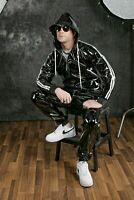 Lack Vinyl PVC Gloss Wetlook Jacke Jacket Hoodie