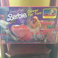 BARBIE DANCE MAGIC DINNER FOR TWO PLAY SET NEW SEALED 1990 MATTEL HARD TO FIND