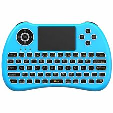 Backlit Mini 2.4Ghz Wireless Keyboard Touchpad W/ Mouse For PC PS4 Smart TV Blue