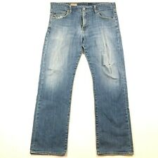 AG Adriano Goldschmied Mens 38x32 Jeans The Protege Faded Mid Rise Straight Leg