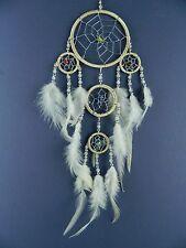 DREAMCATCHER NATURAL CREAM with SILVER CENTRE cream feathers dream catcher 9x25
