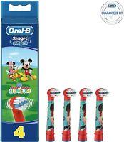 Oral-B Testine Di Ricambio 4 pezzi con Topolino e Topolina, Minny e Micky Mouse