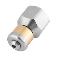 Stainless Steel SS304 Rotating Drain Blaster Cleaning Nozzle Sewer Jetter Nozzle