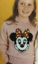 Disney Minnie Mouse Jumper ( Childrens & Adult)  Knitting Pattern