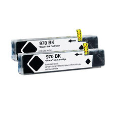 2 Black Ink Cartridges for HP 970XL 971XL Officejet Pro X476dn X551dw X576dw