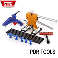 PDR Car Body Paintless Dent Repair Removal Glue Gun Tool Puller Lifter T-Bar Kit