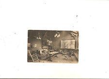 Rare Antique France Postcard Student Hostel Reading & Rest Room 10c Sower
