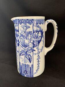Large Blue & white Jug. Floral