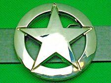 """Belt Buckle """"5 POINT STAR"""" For 3.8 cm Wide Belt, DIY, Custom Metal Casting."""
