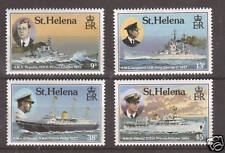 St. Helena Sc 475-478 MNH. 1987 Ships & Portraits of Royal Visitors, cplt set