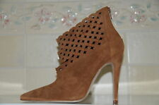 New MANOLO BLAHNIK Brown ANKLE BOOTS SHOES 40 9.5
