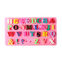 3D Alphabet Letter Silicone Fondant Mold Cake Chocolate Sugarcraft Cutter Mould!