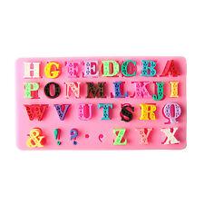 3D Alphabet Letter SiliconeFondant Mold Cake Chocolate Sugarcraft Cutter Mo