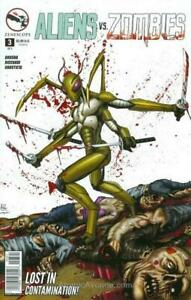 Aliens Vs. Zombies #3B VF; Zenescope | save on shipping - details inside