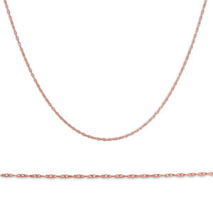 """Solid 1.1MM 14k Rose Gold 18"""" Durable Chain With Spring Ring"""
