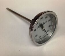 "Industrial Stack/Furnace Thermometer, 200-1000F, 3"" Dial, 6"" Stem, 1/2"" NPT"