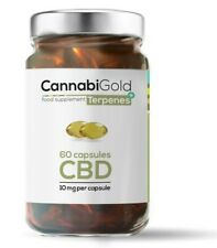 CannabiGold TERPENS+ 60 capsules,10 mg per capsule, FREE P&P!