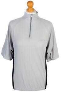 Cycling Shirt Jersey Top T shirt 90s Retro Grey Size M -CW0478