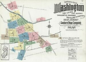 Washington, New Jersey~Sanborn Map©sheets with 73 maps~1886 to 1914~ CD in COLOR