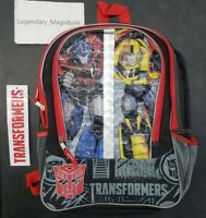 "Kids Back to School Transformers Backpack Full Size 16"" NWT FREE SHIPPING"
