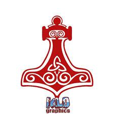 MJOLNIR Vinyl Sticker for Car Truck Norse God Comic Fan THOR ASATARU Rune Pagan
