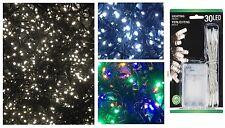 10er 20er 30er 50er LED Micro Lichterkette Batterie LEDs warmweiß kaltweiß bunt