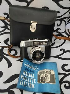 VINTAGE HALINA PAULETTE ELECTRIC CAMERA MADE IN HONG KONG with case