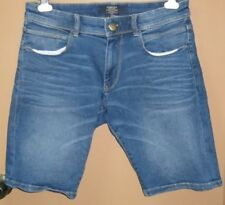 H100:New SPRINGFIELD Bermuda Denim Shorts for Men-Size 34