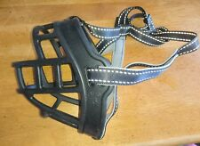 Adjustable Rubber Large Dogs Muzzle Basket Biting Barking Chewing Size 6