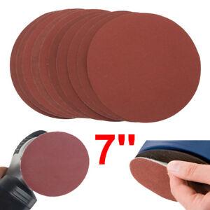 "7""/180mm Sanding Discs Sander Pads Hook and Loop Sandpaper 60~2000 Grit 10PCS"