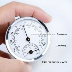 MINI Analog Humidity Temperature Gauge Meter In/Outdoor Thermometer Hygrometer
