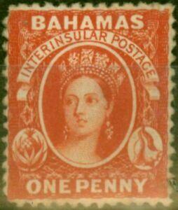 Bahamas 1875 1d Vermilion SG25 Fine Unused