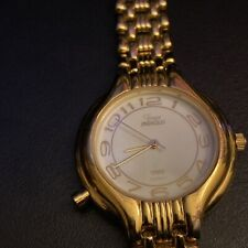 """Timex Indiglo Woman's Water Resistant Gold Tone 7"""" B9 Watch need battery"""