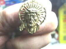 """gold-tested Is Not-abt 5.2gr-C Photo-abt11/4""""x3/4 Gold style Medallion MarkEd as"""
