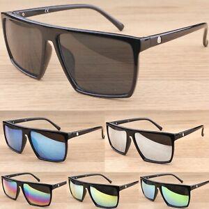 Groß Rechteckige Flache Oberseite Sonnenbrille Damen Herren UV400