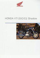 Prospekt 2001 Honda VT 125 C C2 Shadow Motorradprospekt 01 01 brochure Motorrad